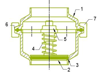 Fig. 1. Tilbageslagsventil