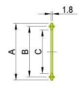 Ferrule - vienkāršs tips 13PG