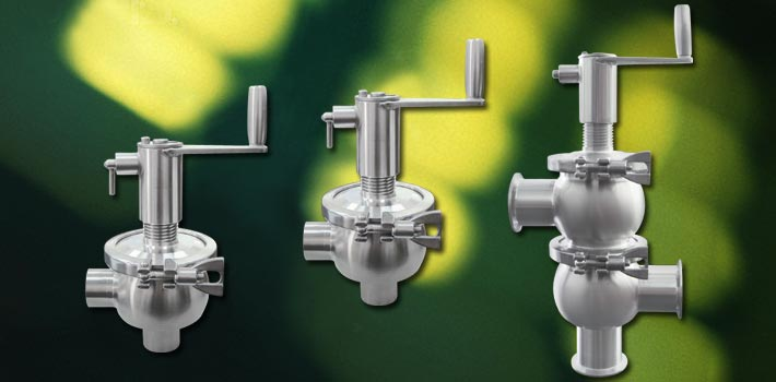 The Original Manual Seat Valve and stainless steel vacuum components