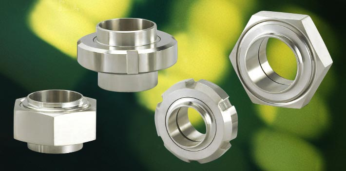 Union and stainless steel vacuum components