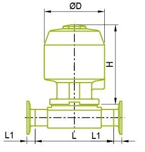 Izpildmehānisma diafragmas vārsts Izpildmehānisma diafragmas vārsts