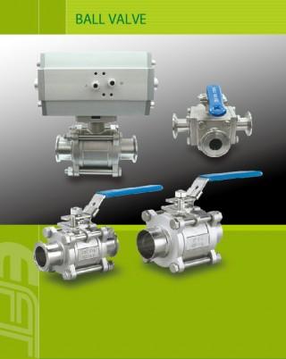 Valvola a sfera e fornitore di componenti per il vuoto per la lavorazione di soluzioni di apparecchiature