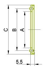 Ferrule - atloka tips 13FG Gredzens