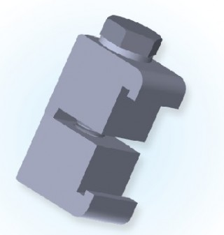 Braçadeira de parede dupla ISO (Al) ISO