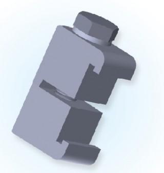 ISO dubultās sienas skava (Al) ISO