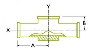Higiēnisks skavas savienojums: instrumentu tee DT29