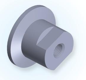 KF sieviešu cauruļu adapteris KF