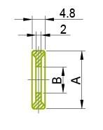 Ferrule - vienkāršs tips 13PG Gredzens