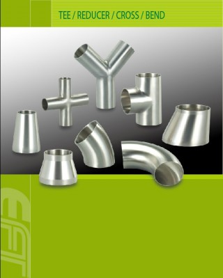 Fornecedor de componentes de Tee / Redutor / Cruz / Dobra e vácuo para soluções de equipamentos de processamento