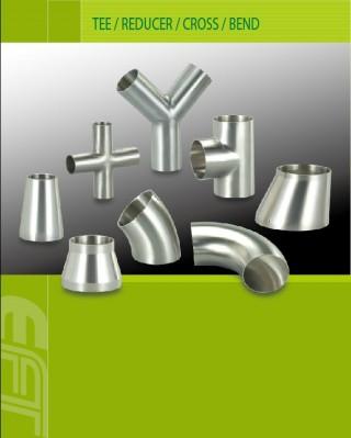 Tee / Reducer / Cross / Bend dan pemasok komponen vakum untuk solusi peralatan pengolahan