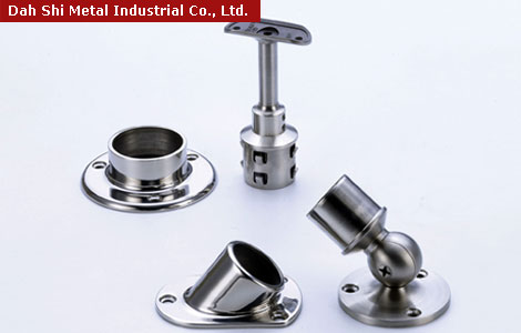 Stair handrail fittings, railing accessories