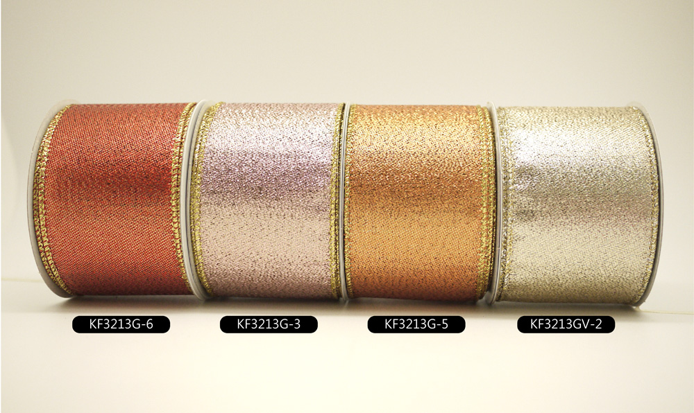 Fancy-weave Metallic Ribbon Supply With Texture, Luster And