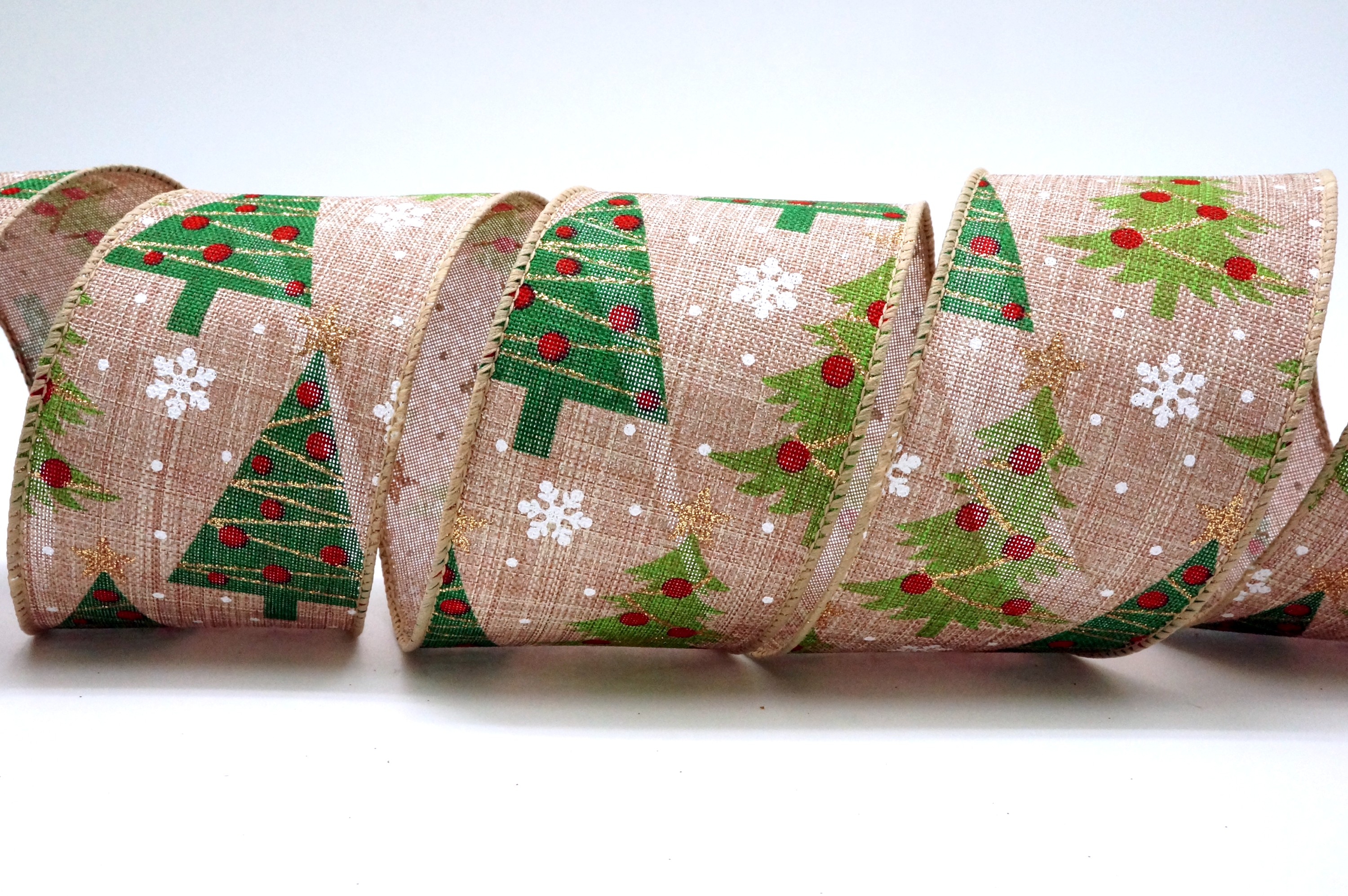 Decorated Christmas Trees Ribbon