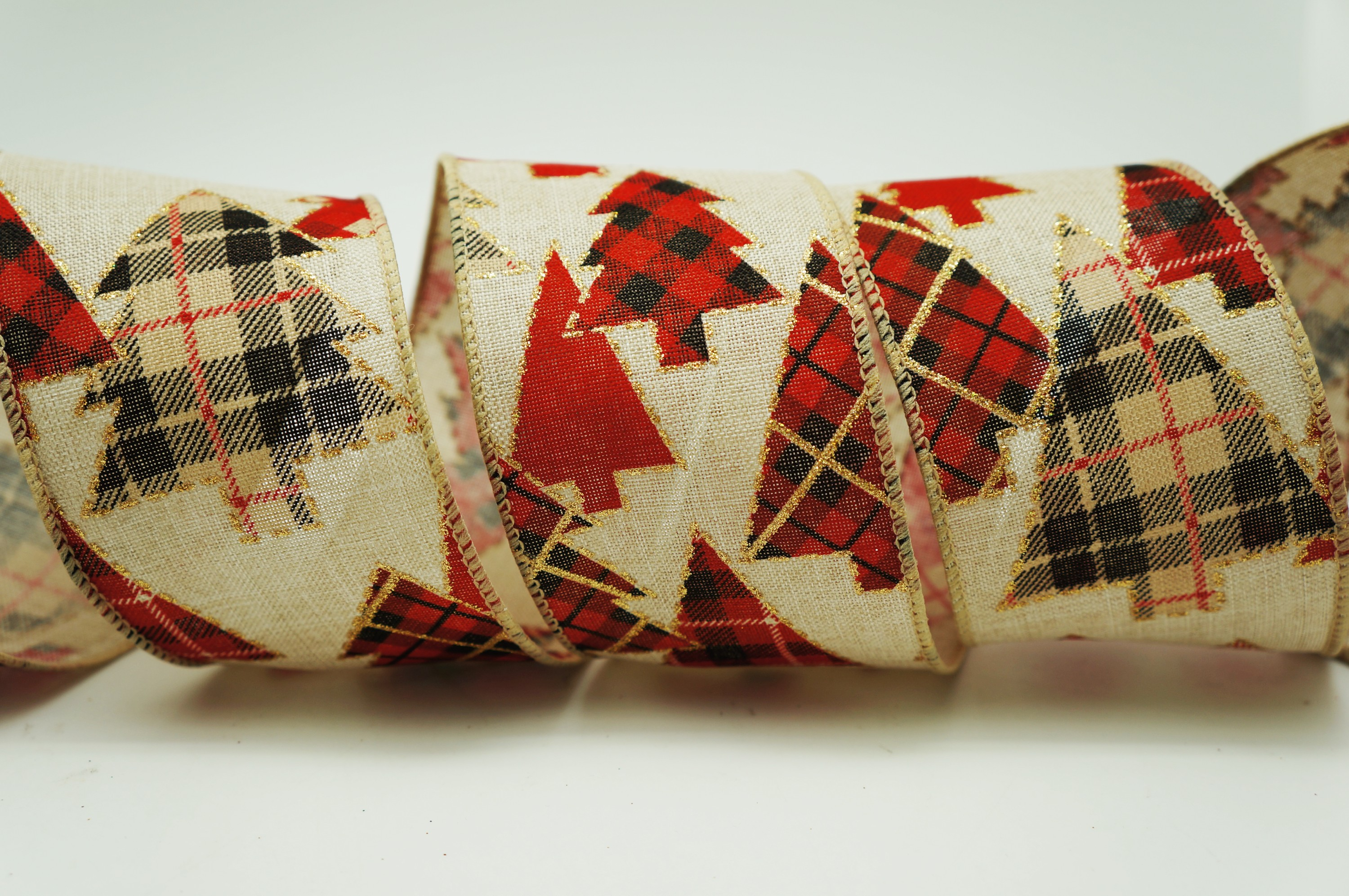 Tartan Christmas Tree Ribbon