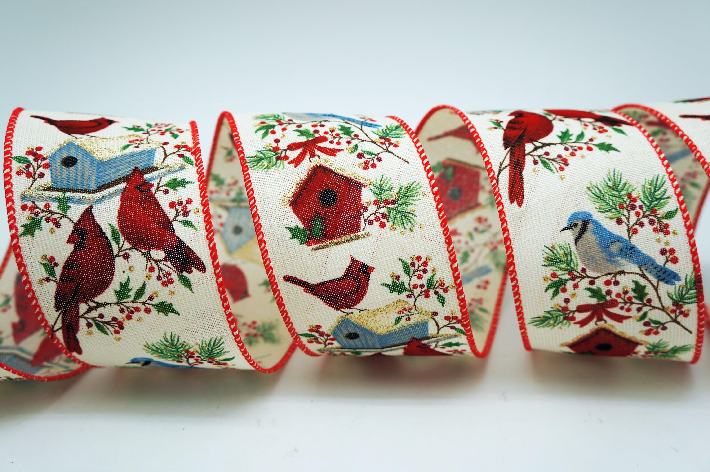 Cardinal & Birdhouse Ribbon