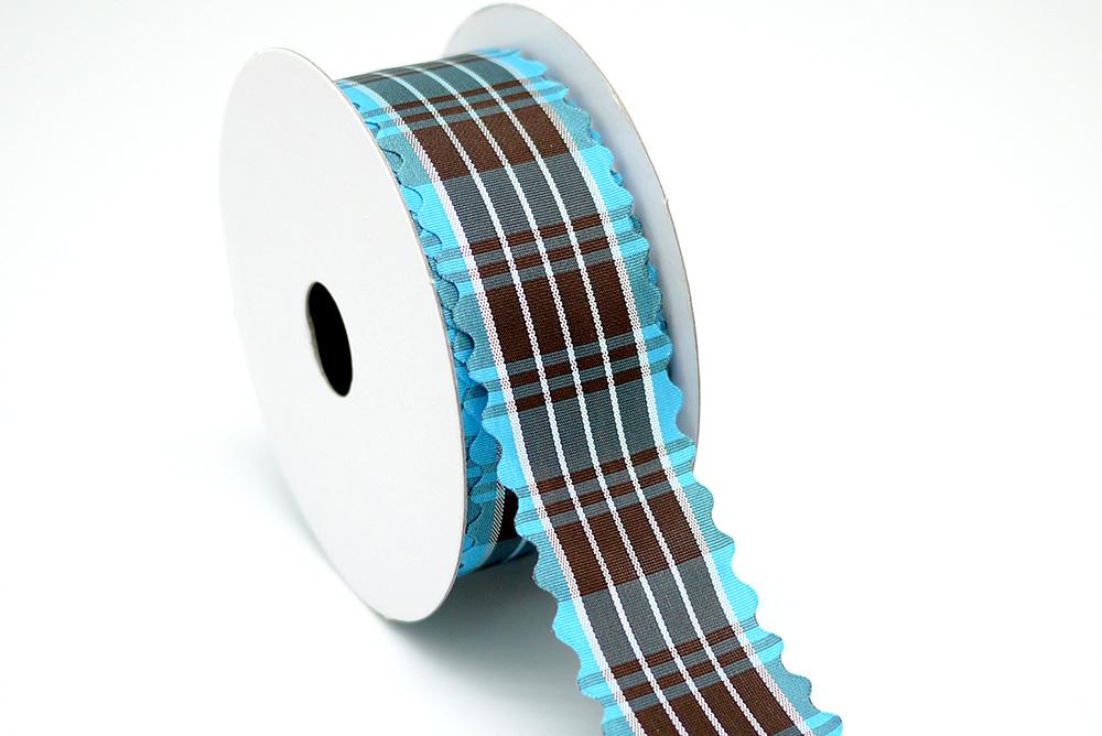 Wavy Die-cut Plaid Ribbon
