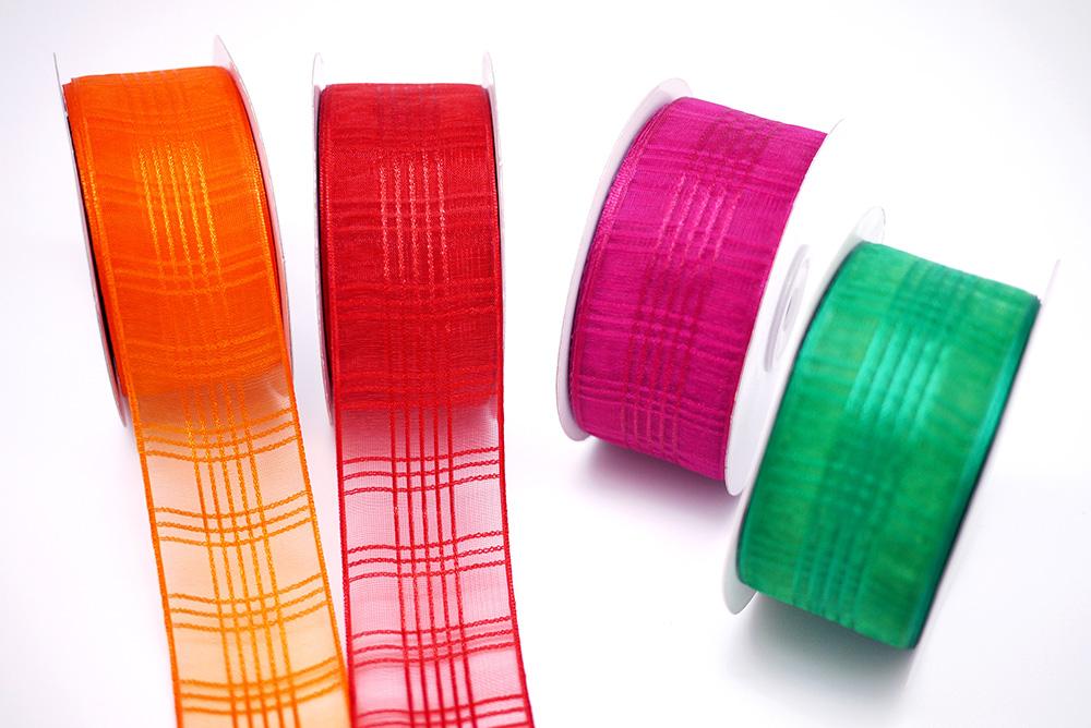 Checkered Organza Ribbon