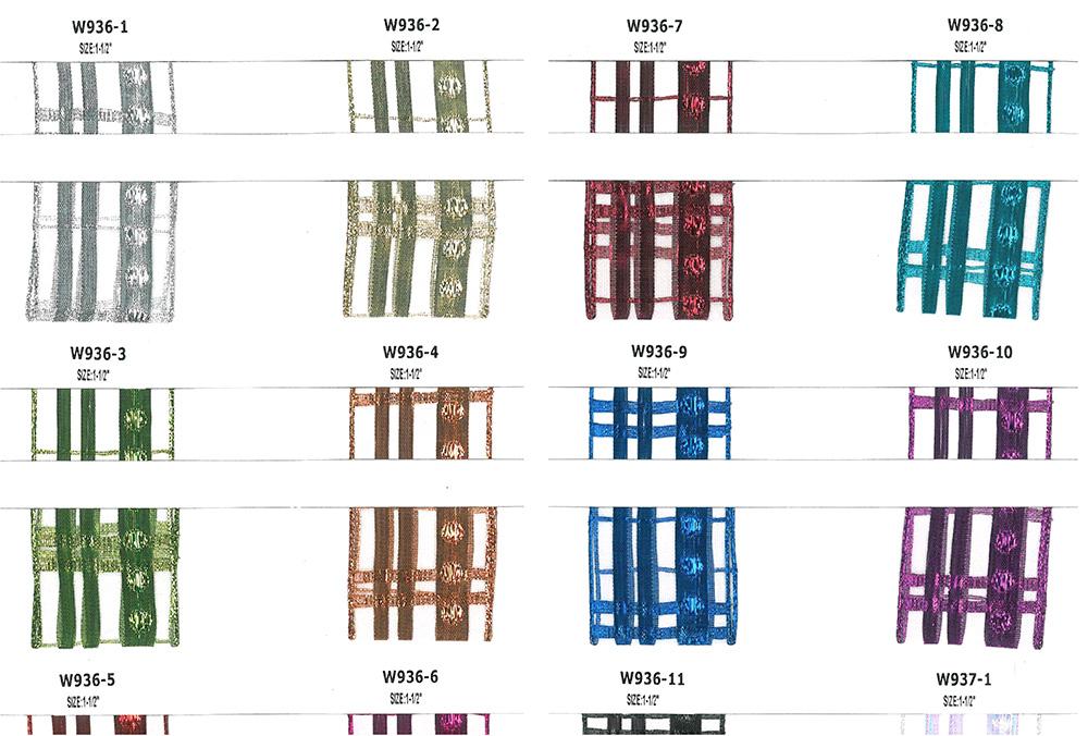 Organza Metallic Plaid Ribbon