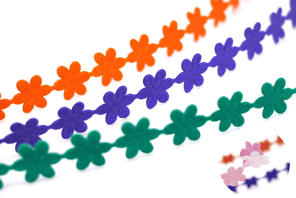 Peel and Stick Flowers Ribbon