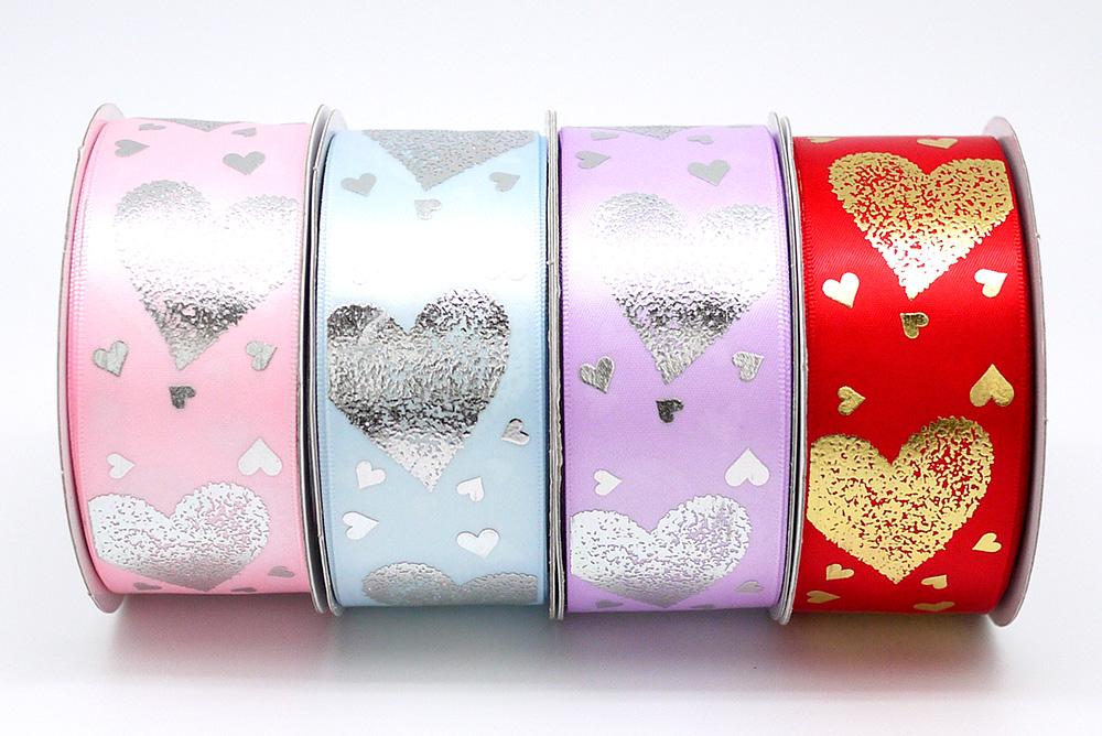 Hearts Everywhere Print Ribbon