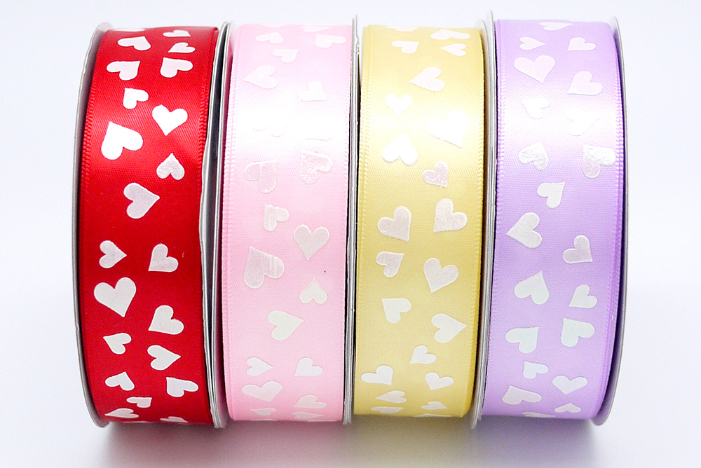 All Hearts Print Ribbon