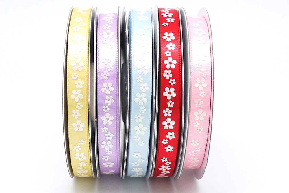 "3/8"" All Flowers Print Ribbon"