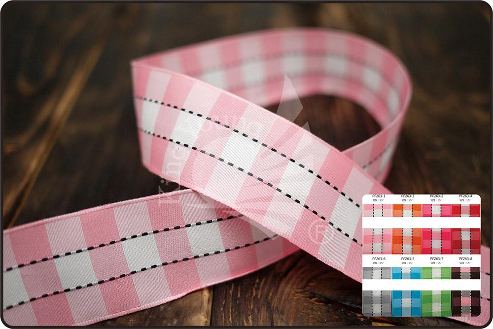 Checkered & Stitched Ribbon