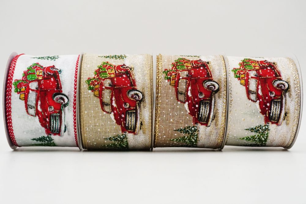 Red Vintage Trucks with Gifts