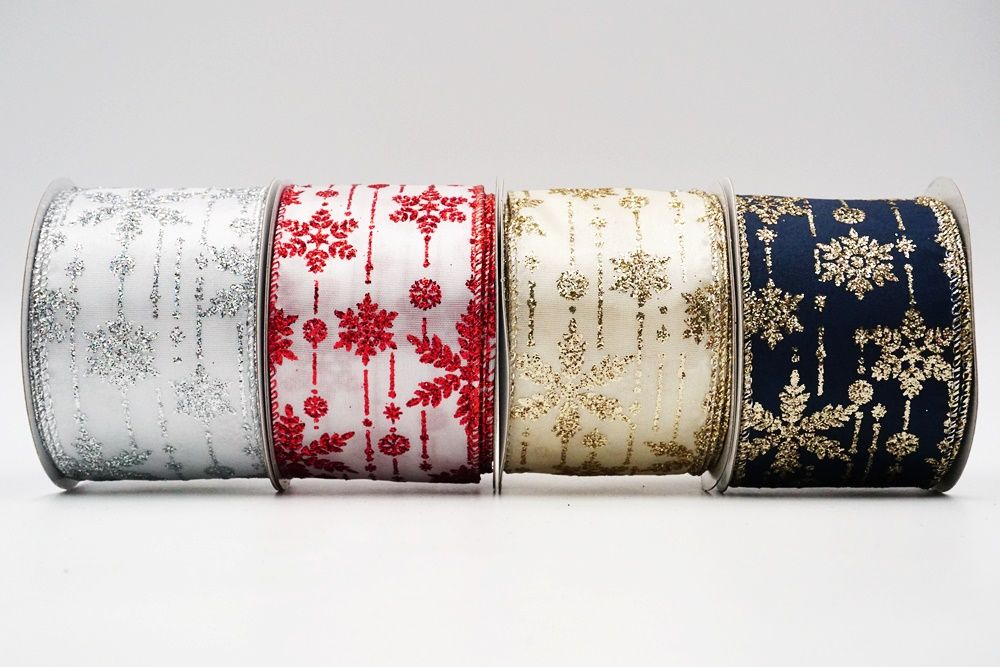 Snowflakes Wired Ribbon
