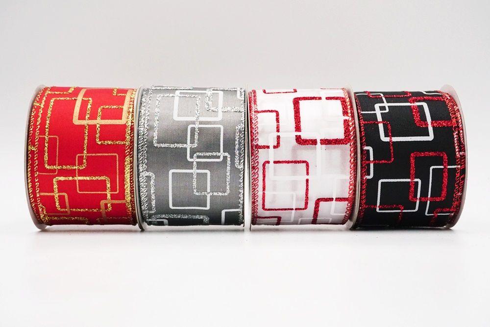 Rectangular pattern Wired Ribbon