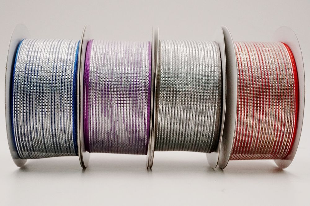 Metallic geweven lint