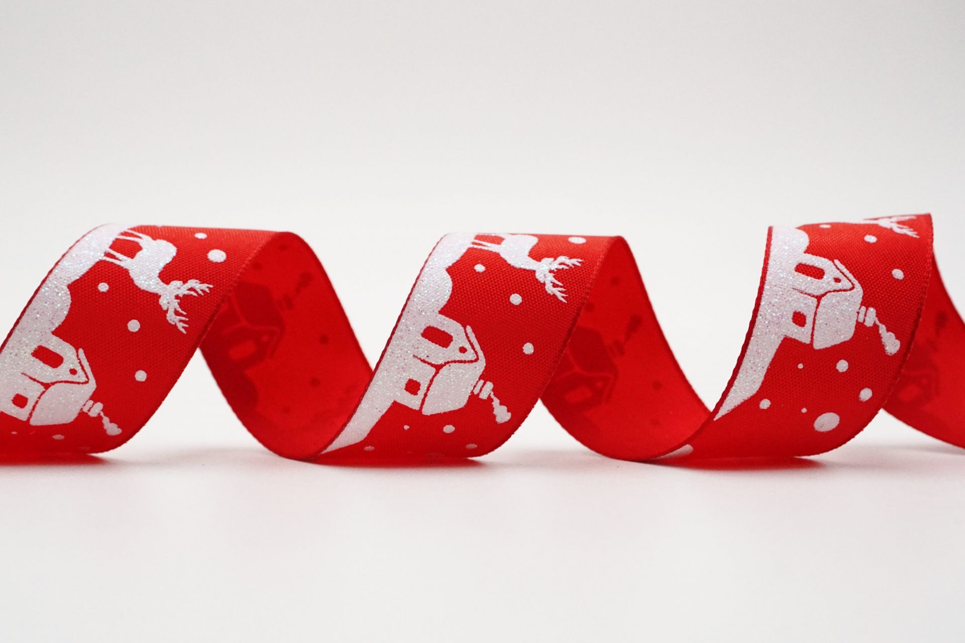 Reindeer & Santa's Home Ribbon