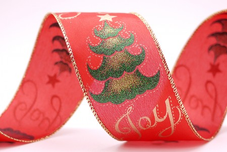 """Joy"" Christmas Tree Print Ribbon - ""Joy"" Christmas Tree Print Ribbon"