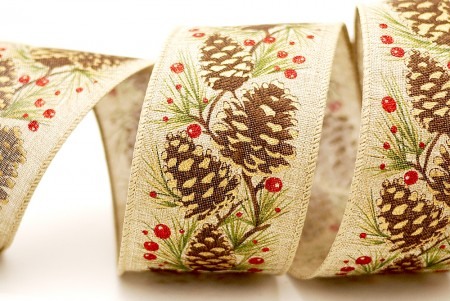 Pinecone & Pine Needle Ribbon - Pinecone & Pine Needle Ribbon