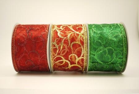 Scrolls Organza Ribbon - Scrolls Organza Ribbon