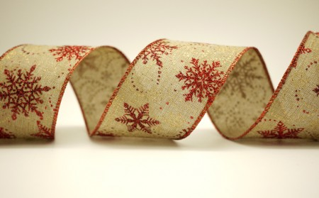 Snowflakes & Dotted Line Ribbon - Snowflakes & Dotted Line Ribbon