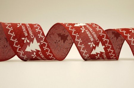 Xmas Tree Burlap Ribbon - Xmas Tree Burlap Ribbon