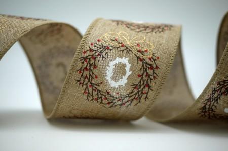 """JOY"" and Wreath Ribbon - ""JOY"" and Wreath Ribbon"