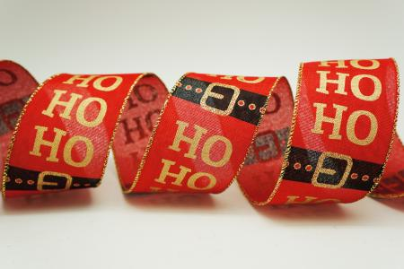 HO HO HO & Santa Belt Ribbon - HO HO HO & Santa Belt Ribbon