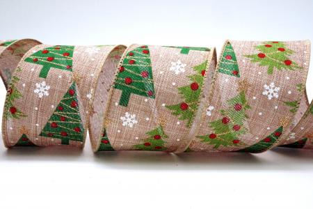 Decorated Christmas Trees Ribbon - Decorated Christmas Trees Ribbon