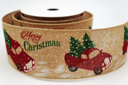 Red Christmas Truck Ribbon - Red Christmas Truck Ribbon