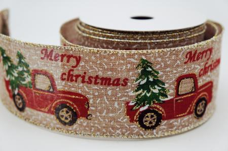 Red Truck Christmas Tree Ribbon - Red Truck Christmas Tree Ribbon