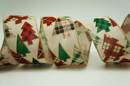 Plaid Christmas Tree Ribbon - Plaid Christmas Tree Ribbon