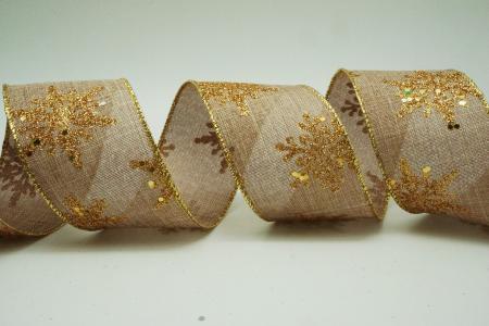 Glittery Snowflakes Ribbon - Glittery Snowflakes Ribbon