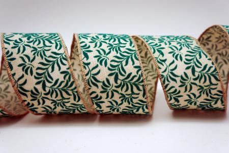Christmas Fern Leaves Ribbon - Christmas Fern Leaves Ribbon
