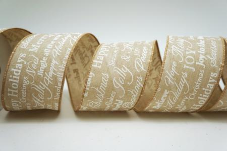 Christmas Words Ribbon - Christmas Words Ribbon