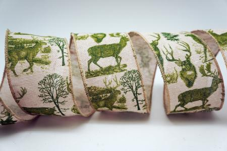 Reindeer & Trees Ribbon - Reindeer & Trees Ribbon
