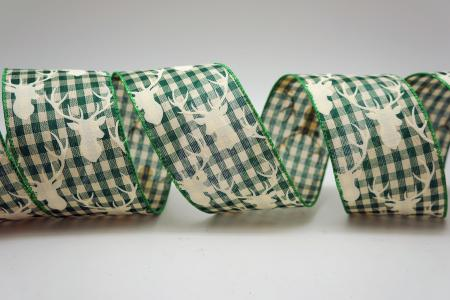 Reindeer Gingham Ribbon - Reindeer Gingham Ribbon
