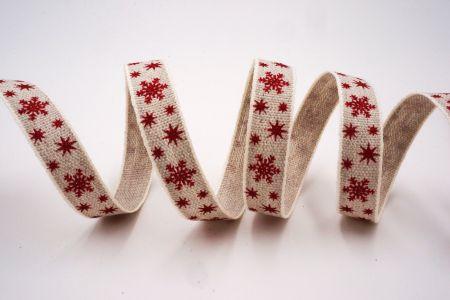 Red Snowflakes Ribbon - Red Snowflakes Ribbon