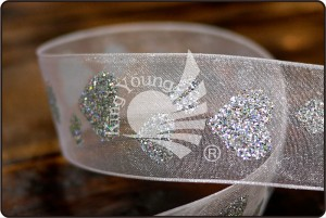 Glitter Heart Ribbon_PR1093 - Glitter Heart Ribbon (PR1093)